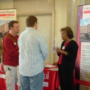 Students visiting annual job fair for Health Sciences.