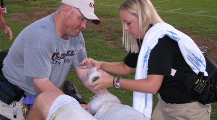 Exercise and Sports Science on the field training